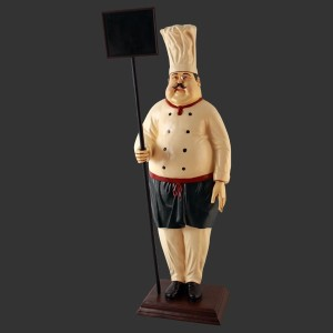 Chef Model Life Size Advertising Figure