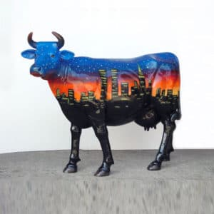 Starry Nights Cow 3D Realistic Lifesize Statue